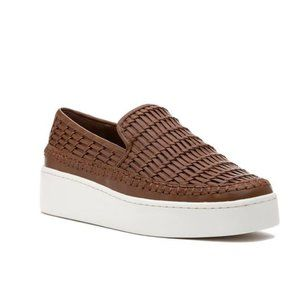 New Vince Stafford Sneaker Almond Leather Tan 8